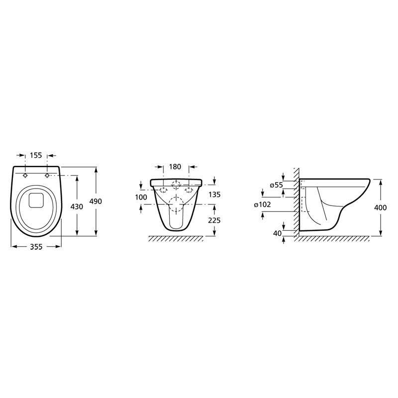cuvette compacte pour wc suspendu polo roca anjou connectique. Black Bedroom Furniture Sets. Home Design Ideas
