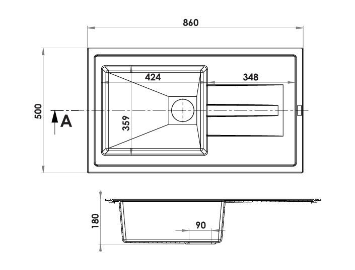 evier encastrer arcos noir graphite 1 cuve anjou. Black Bedroom Furniture Sets. Home Design Ideas
