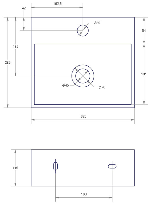 lave mains c ramique blanc brillant quarelo anjou connectique. Black Bedroom Furniture Sets. Home Design Ideas