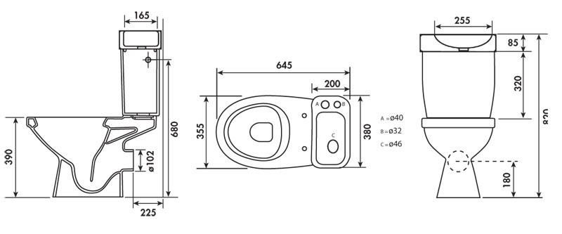 Pack wc complet avec lave mains int gr anjou connectique - Reservoir avec lave mains integre ...