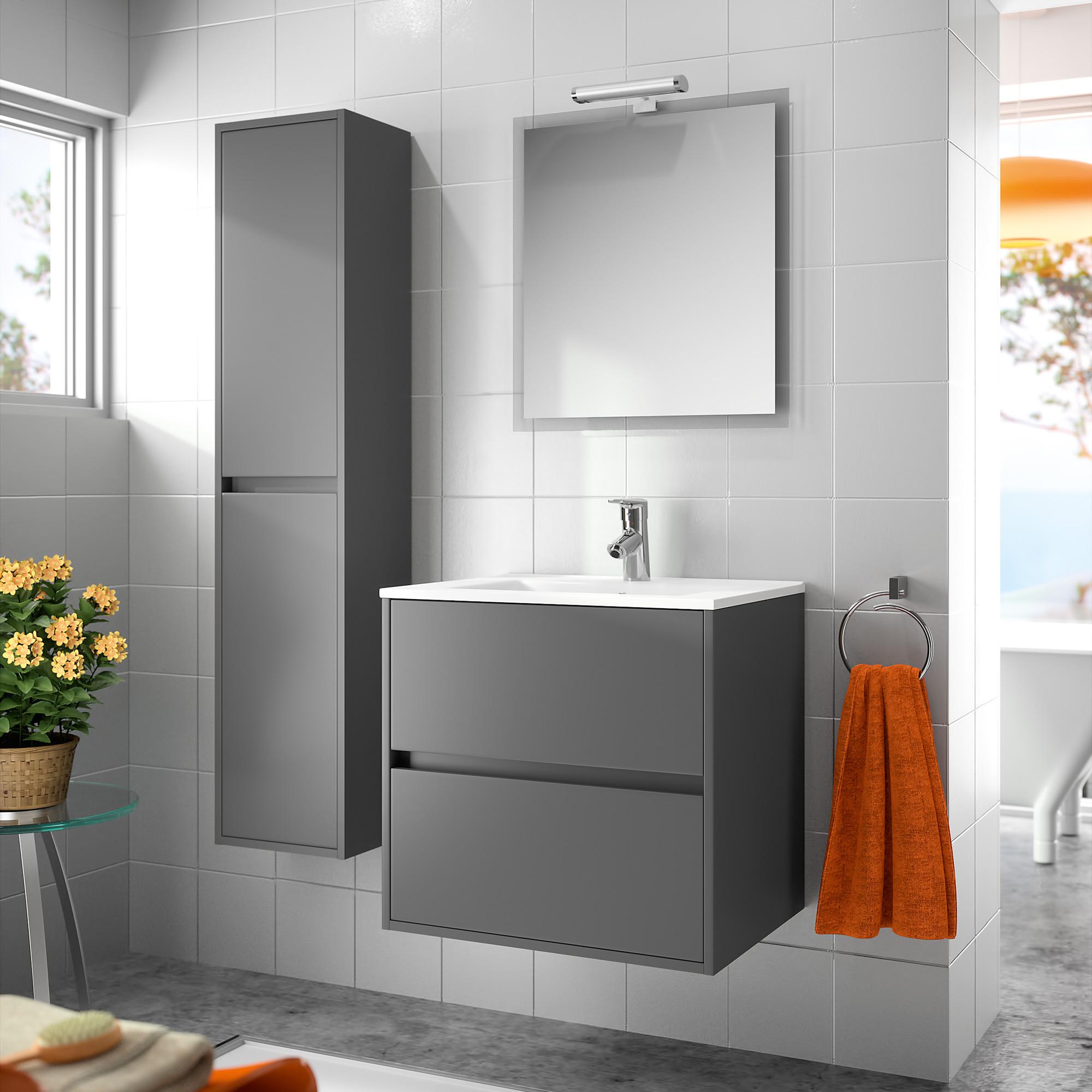 Colonne salle de bain UNIT 300 Gris mat  Anjou connectique