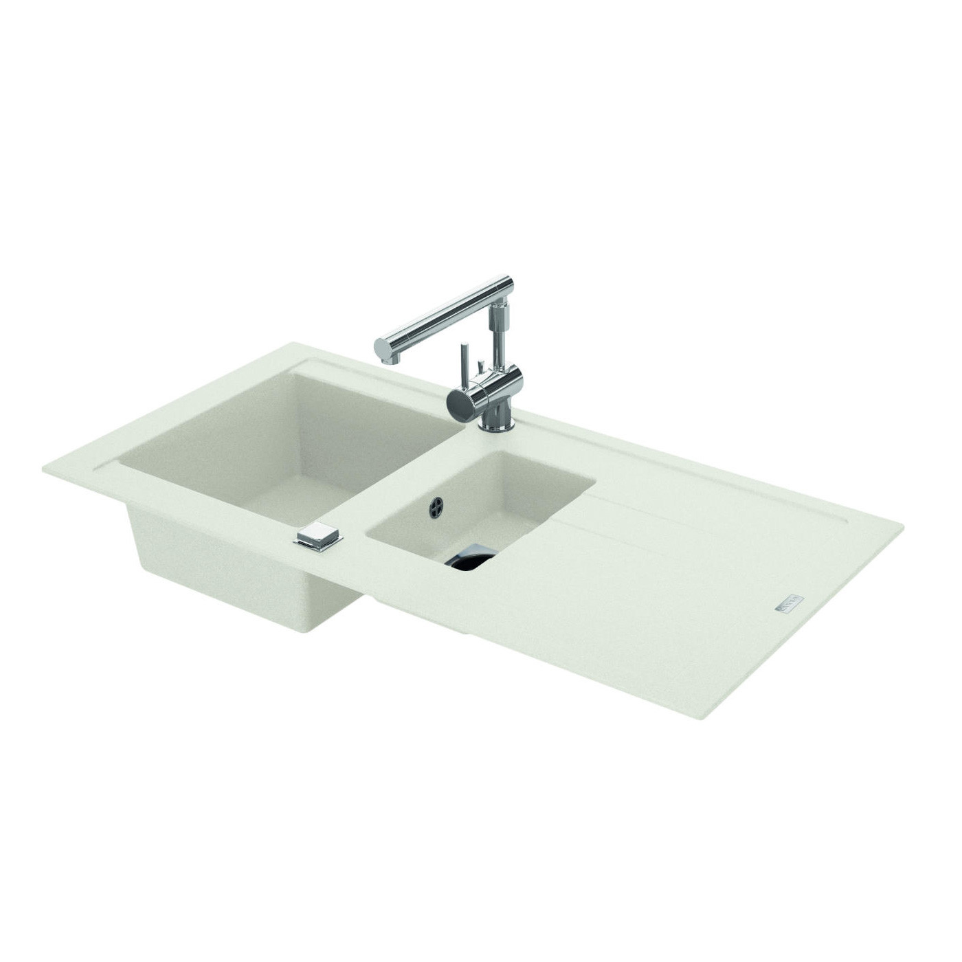 evier encastrer arcos blanc 1 cuve 1 2 anjou connectique. Black Bedroom Furniture Sets. Home Design Ideas