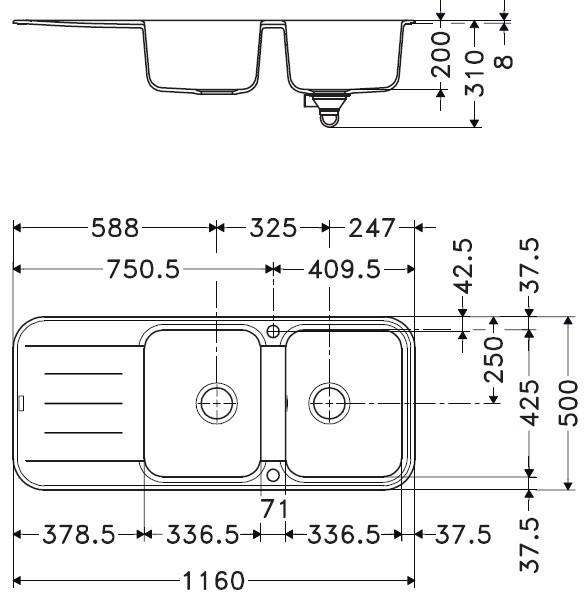 evier de cuisine franke pebel fragranit peg621 anjou connectique. Black Bedroom Furniture Sets. Home Design Ideas