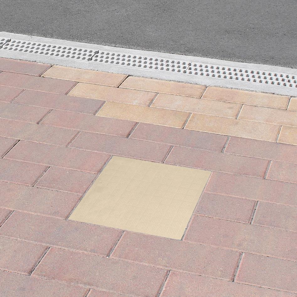 Tampon de sol pvc renforc avec cadre anti choc gris for Sol pvc exterieur