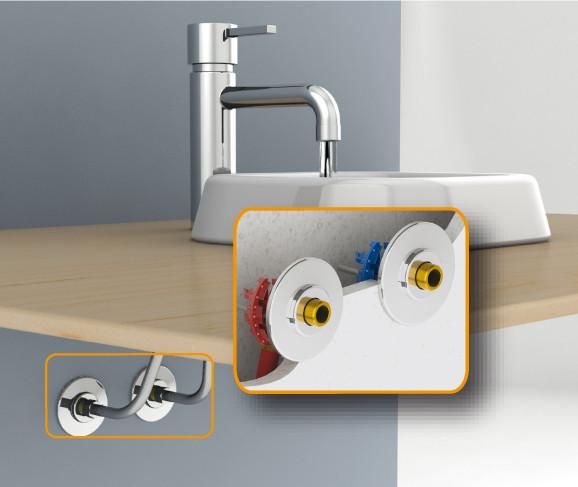 fixoplac lavabo 60mm per 16 m3 8 raccordement. Black Bedroom Furniture Sets. Home Design Ideas