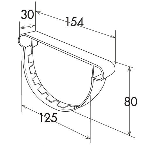 fond de goutti re pvc 25 demi ronde anjou connectique. Black Bedroom Furniture Sets. Home Design Ideas