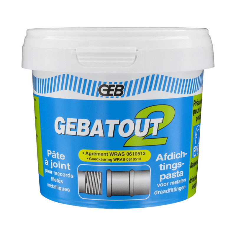 Pot 500g gebatout 2 p te joint pour raccords filet s for Pate a joint pour piscine