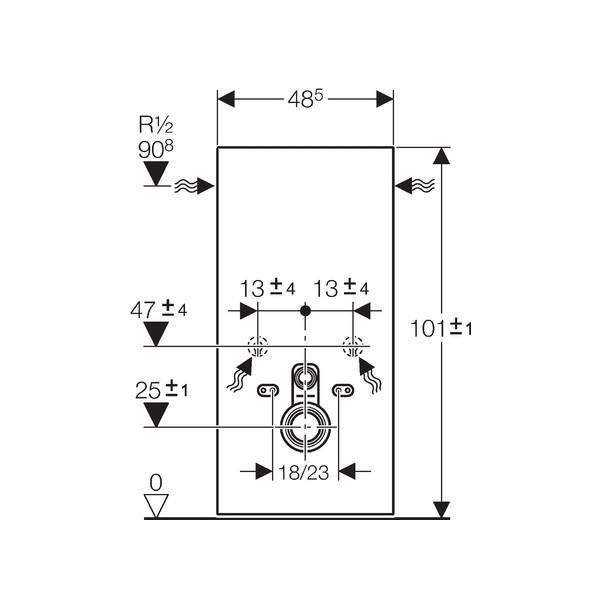geberit panneau monolith pour wc suspendu chocolat. Black Bedroom Furniture Sets. Home Design Ideas