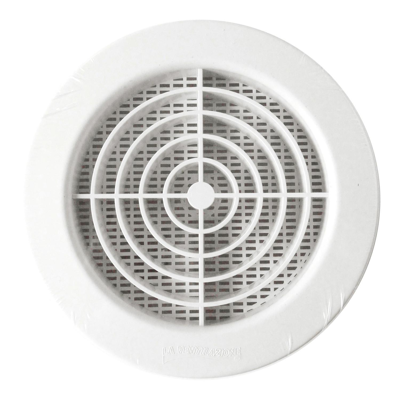 Grille d 39 a ration ronde blanche moustiquaire encastrer sur tube pvc anjou connectique - Installer grille aeration fenetre pvc ...