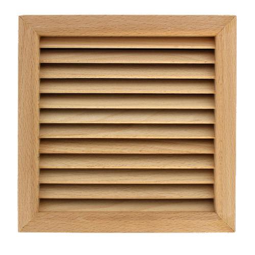 grille ventilation carr e bois encastrer 172x172. Black Bedroom Furniture Sets. Home Design Ideas