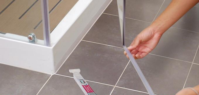 joint double l vres pour bas de porte de douche paisseur. Black Bedroom Furniture Sets. Home Design Ideas