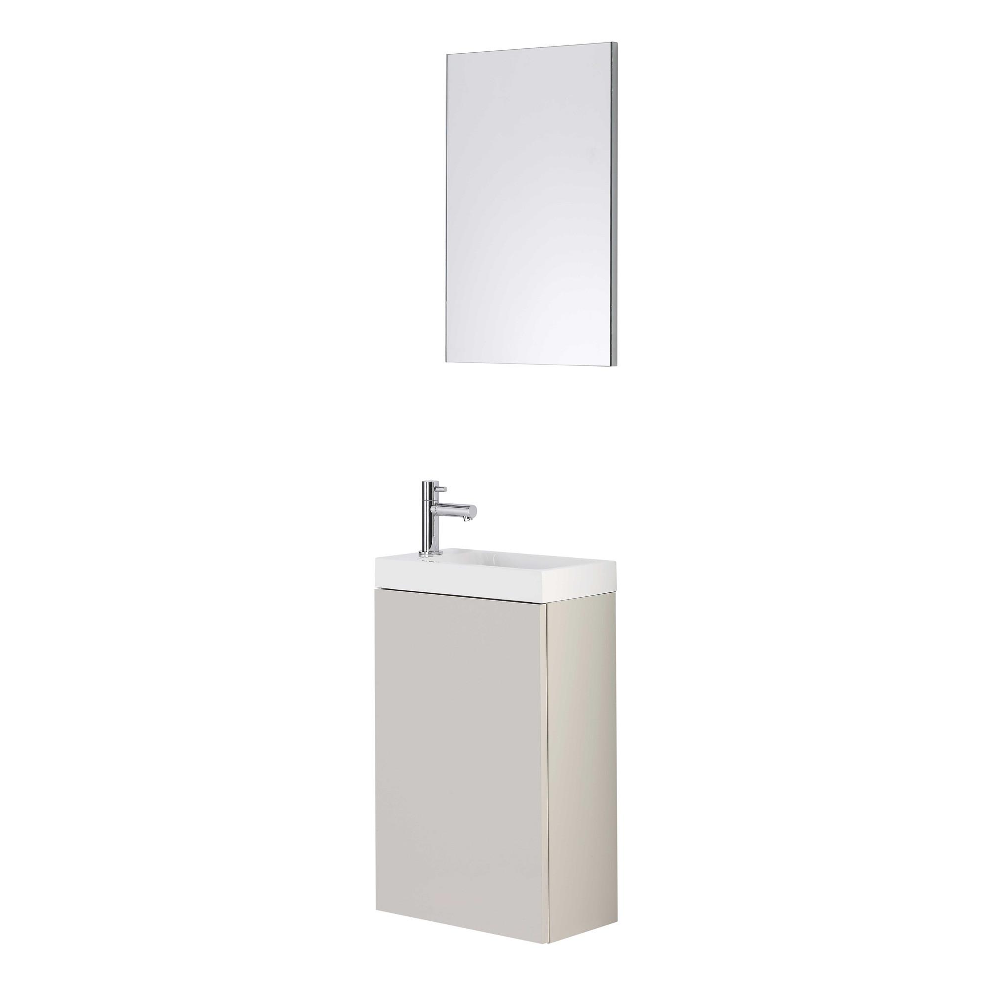 lave main meuble tortora duofix avec miroir anjou connectique. Black Bedroom Furniture Sets. Home Design Ideas