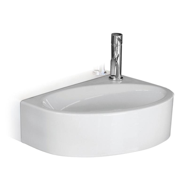 lave mains c ramique blanc brillant mega anjou connectique. Black Bedroom Furniture Sets. Home Design Ideas
