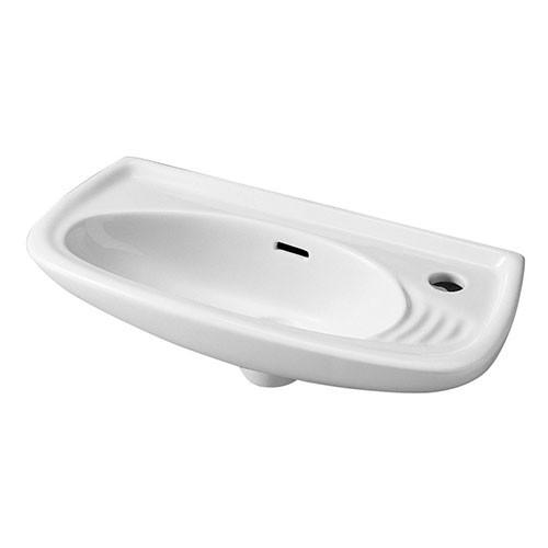 lave mains troit de face suspendre 50 x 23 x blanc anjou connectique. Black Bedroom Furniture Sets. Home Design Ideas