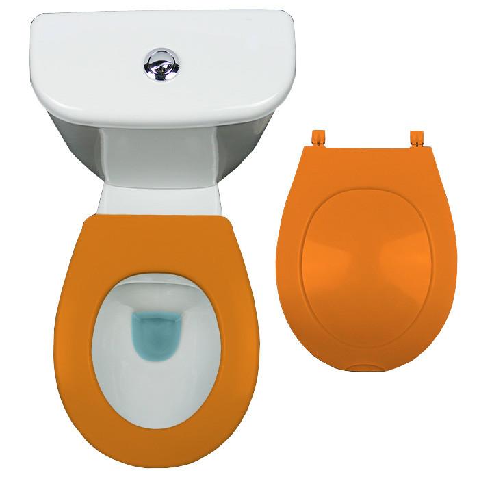 Abattant wc orange - Wc oranje ...