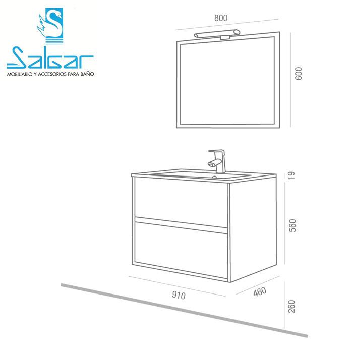 meuble complet salle de bain noja 900 gris anjou connectique. Black Bedroom Furniture Sets. Home Design Ideas
