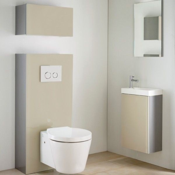 Lave main meuble tortora duofix avec miroir anjou for Miroir 40x70