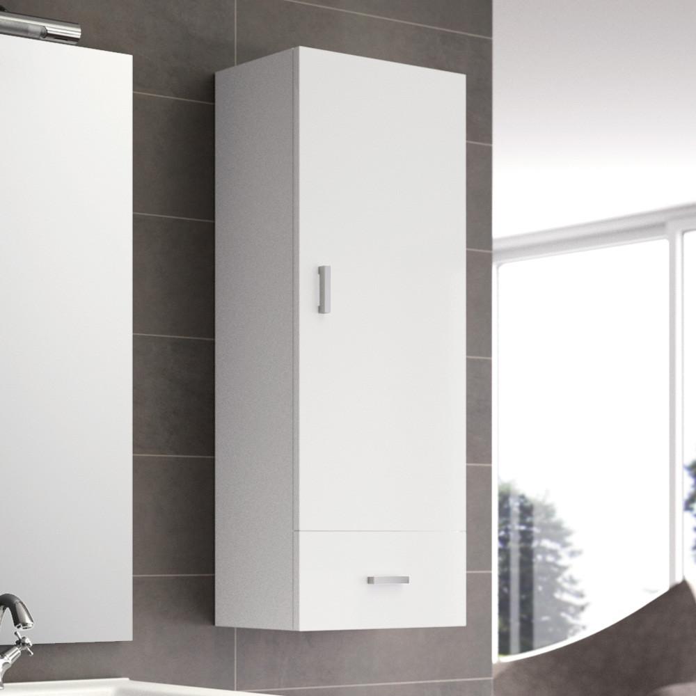 meuble haut optimo blanc brillant 1 porte et 1 tiroir anjou connectique. Black Bedroom Furniture Sets. Home Design Ideas