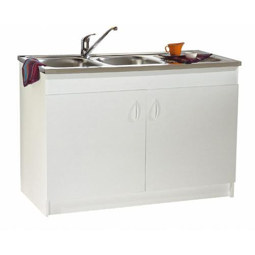meuble sous vier de cuisine blanc anjou connectique