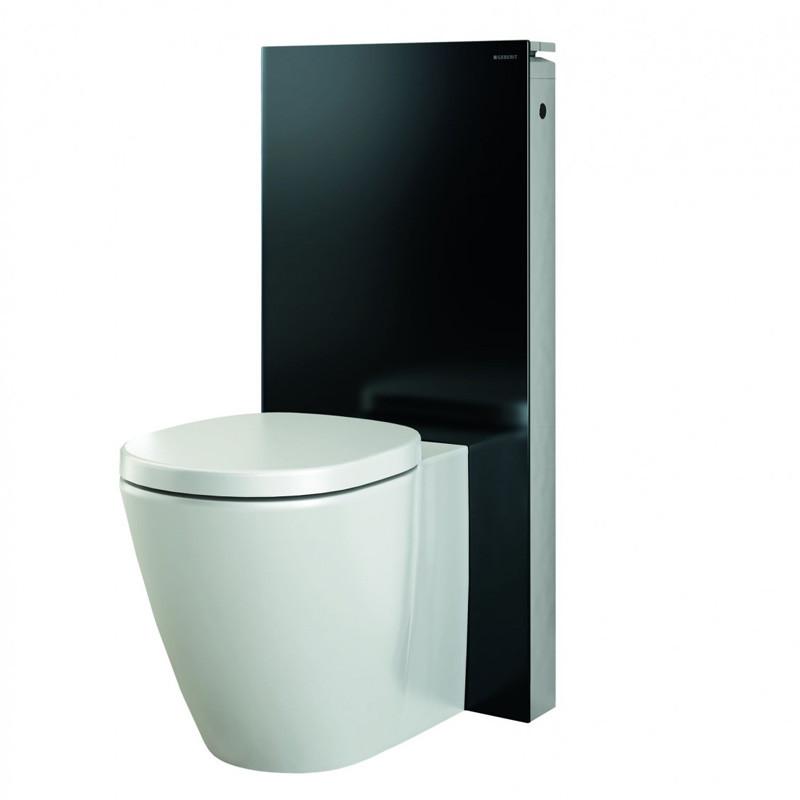 Geberit pack panneau wc monolith sans cuvette au sol noir pack wc wc - Pack wc suspendu noir ...