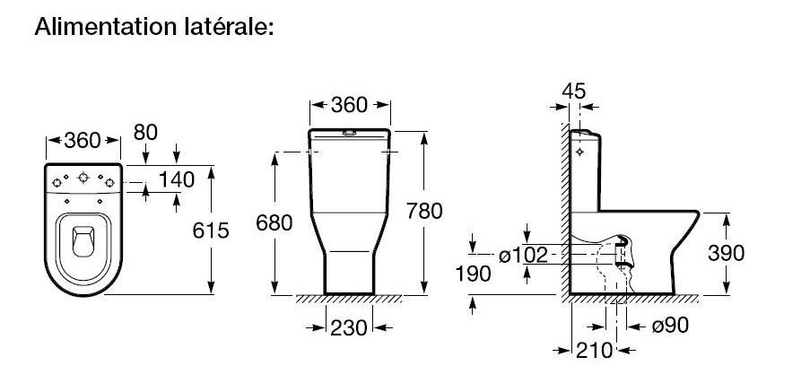 pack wc compact nexo de roca 3 6l sortie horizontale ou verticale anjou connectique. Black Bedroom Furniture Sets. Home Design Ideas