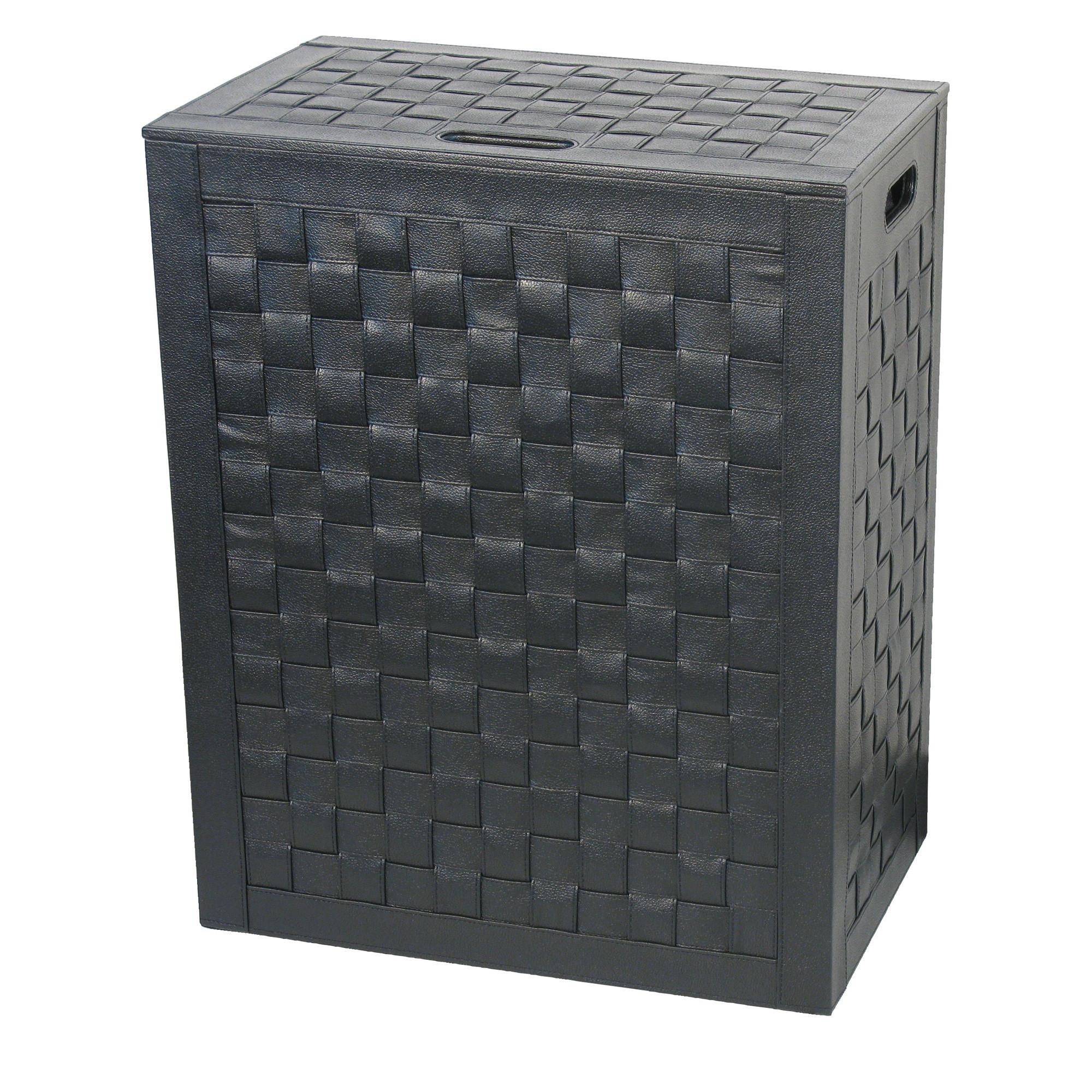 panier linge noir intrecci 60 5cm anjou connectique. Black Bedroom Furniture Sets. Home Design Ideas