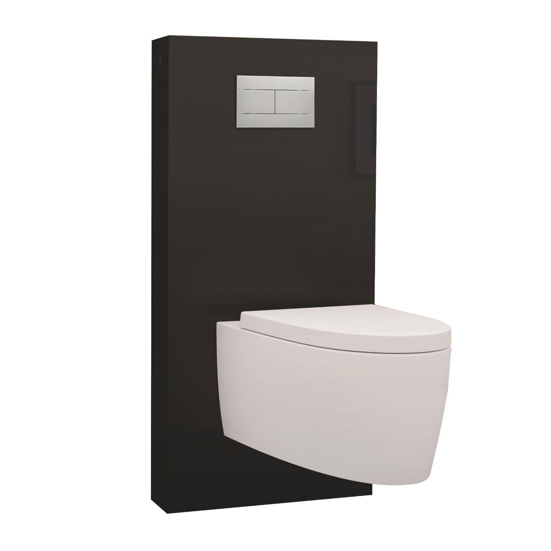 panneau wc qr box r giplast noir suspendu sans cuvette. Black Bedroom Furniture Sets. Home Design Ideas