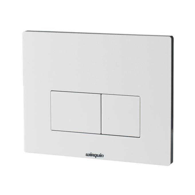 plaque commande double touche design blanche wirquin anjou connectique. Black Bedroom Furniture Sets. Home Design Ideas