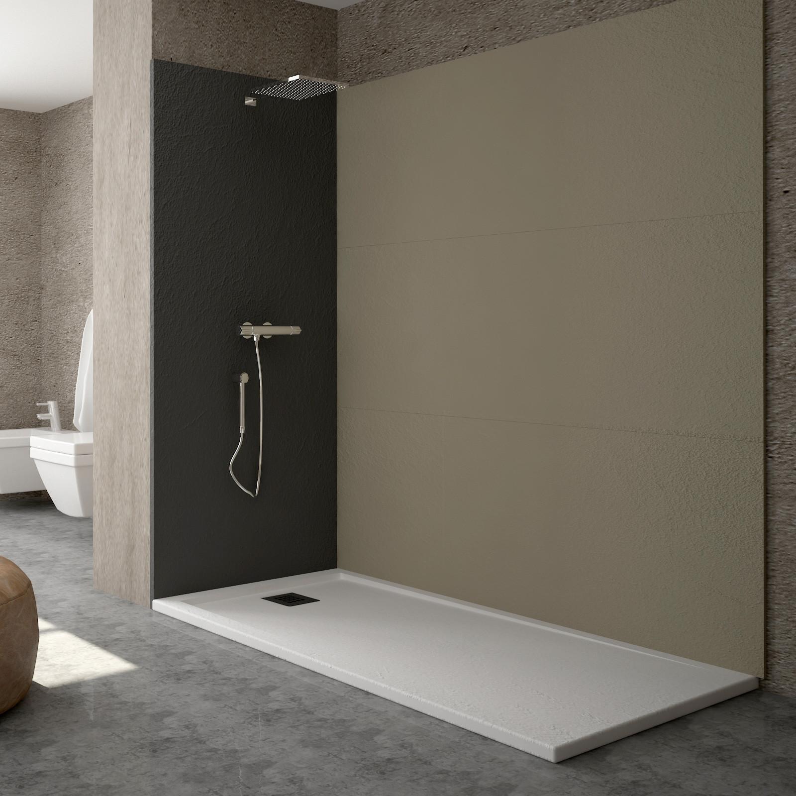 receveur de douche blanc solid light en r sine ultra l ger. Black Bedroom Furniture Sets. Home Design Ideas