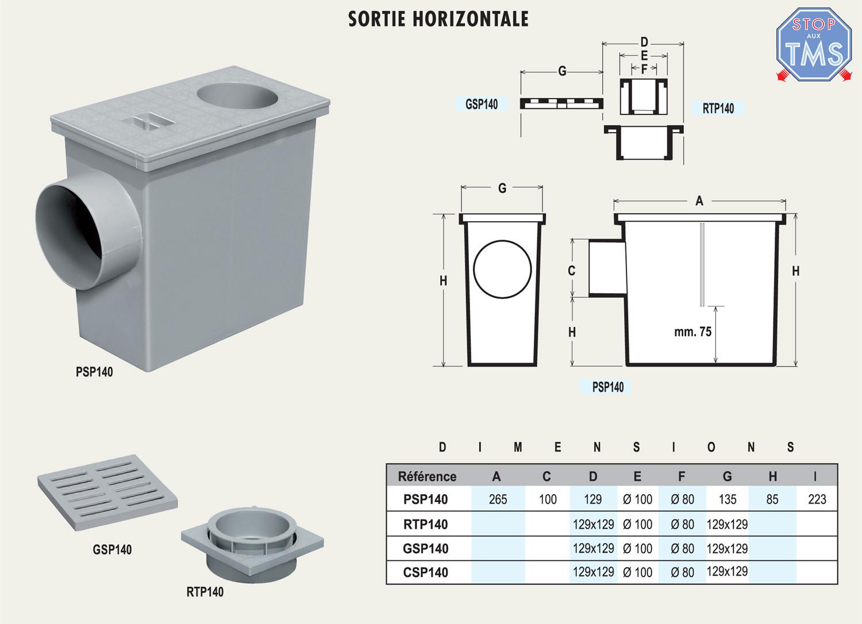 regard de descente 135x265mm pour eaux pluviales first plast. Black Bedroom Furniture Sets. Home Design Ideas