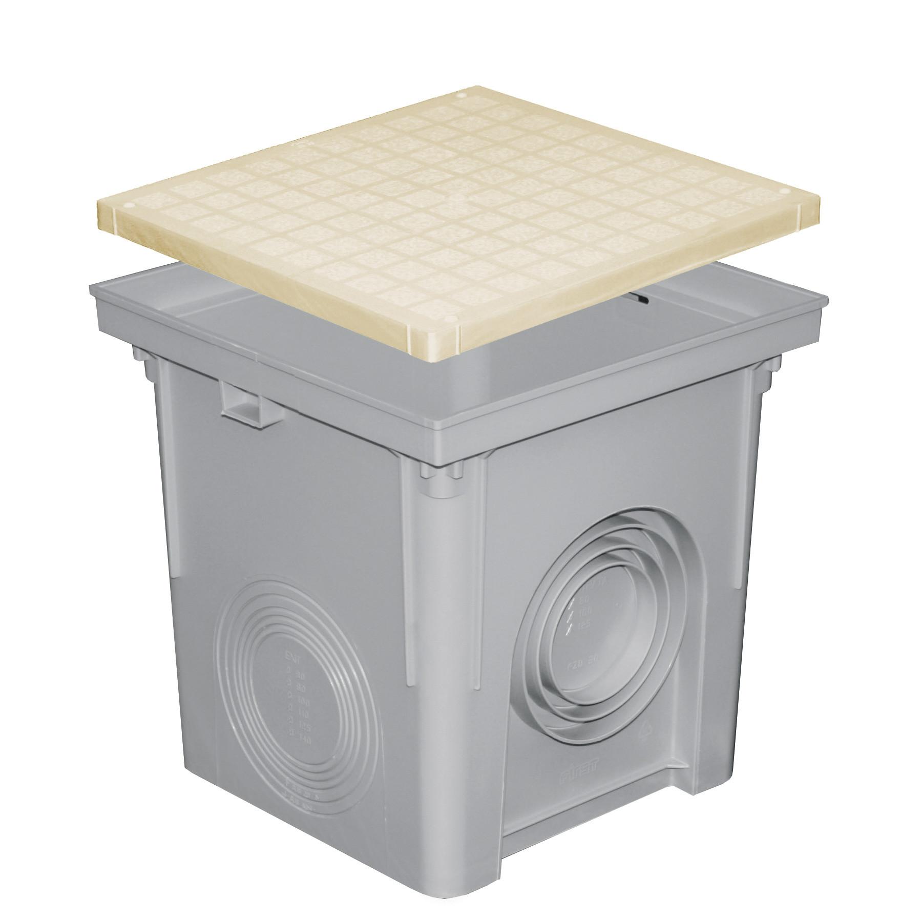 regard sable polypropyl ne avec couvercle pour descente eau pluviale. Black Bedroom Furniture Sets. Home Design Ideas