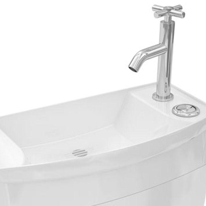 R servoir ise 39 o combin lave mains double touche attenant - Hauteur arrivee d eau lavabo ...