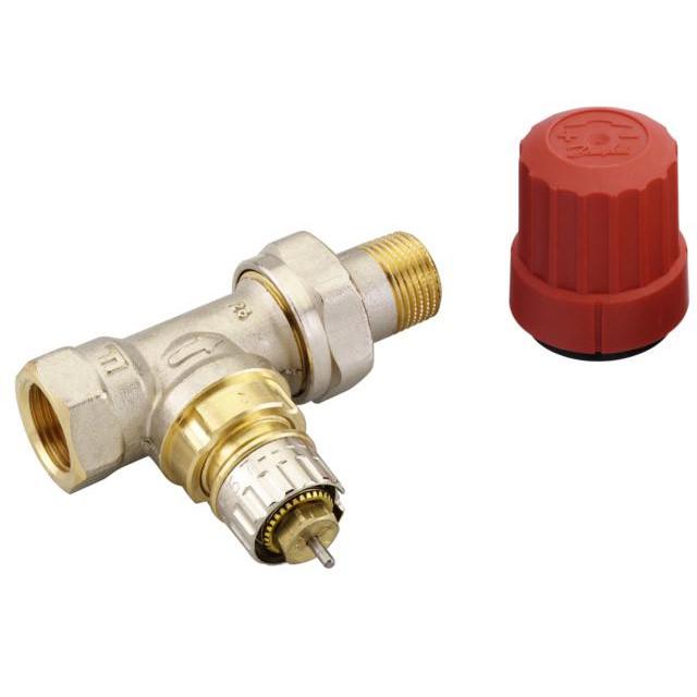 Robinet thermostatique pour radiateur avec corps droit - Radiateur avec robinet thermostatique ...