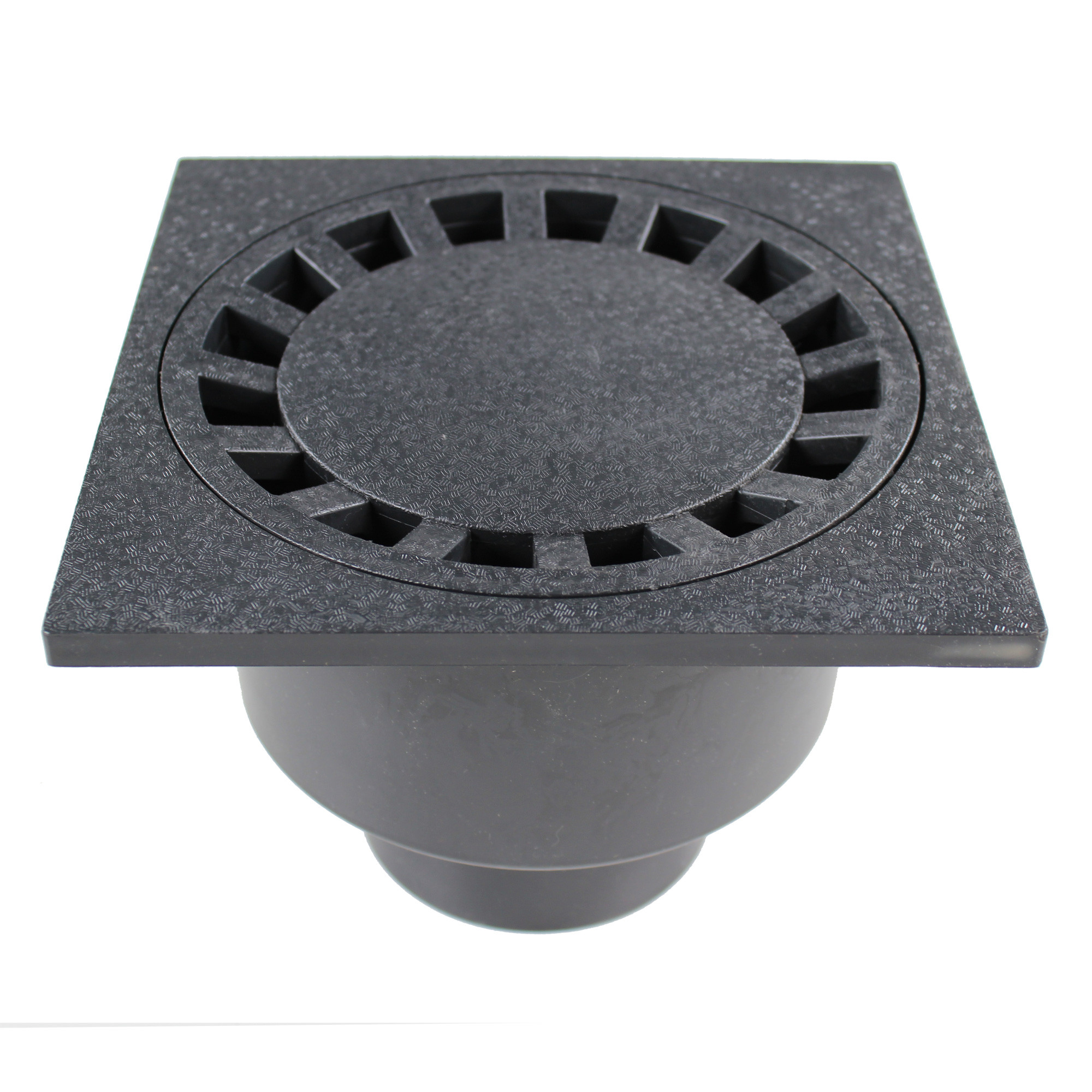 siphon de sol pvc 200x200mm anthracite anjou connectique
