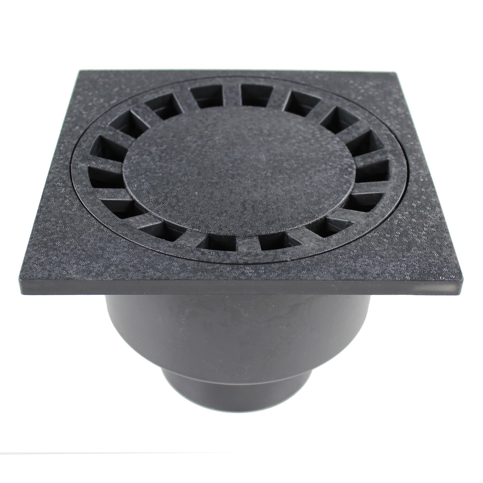 siphon de sol pvc 200x200mm anthracite anjou connectique. Black Bedroom Furniture Sets. Home Design Ideas