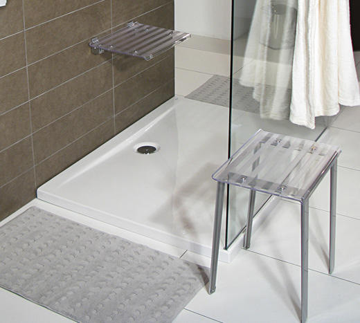tabouret de douche leo transparent anjou connectique. Black Bedroom Furniture Sets. Home Design Ideas