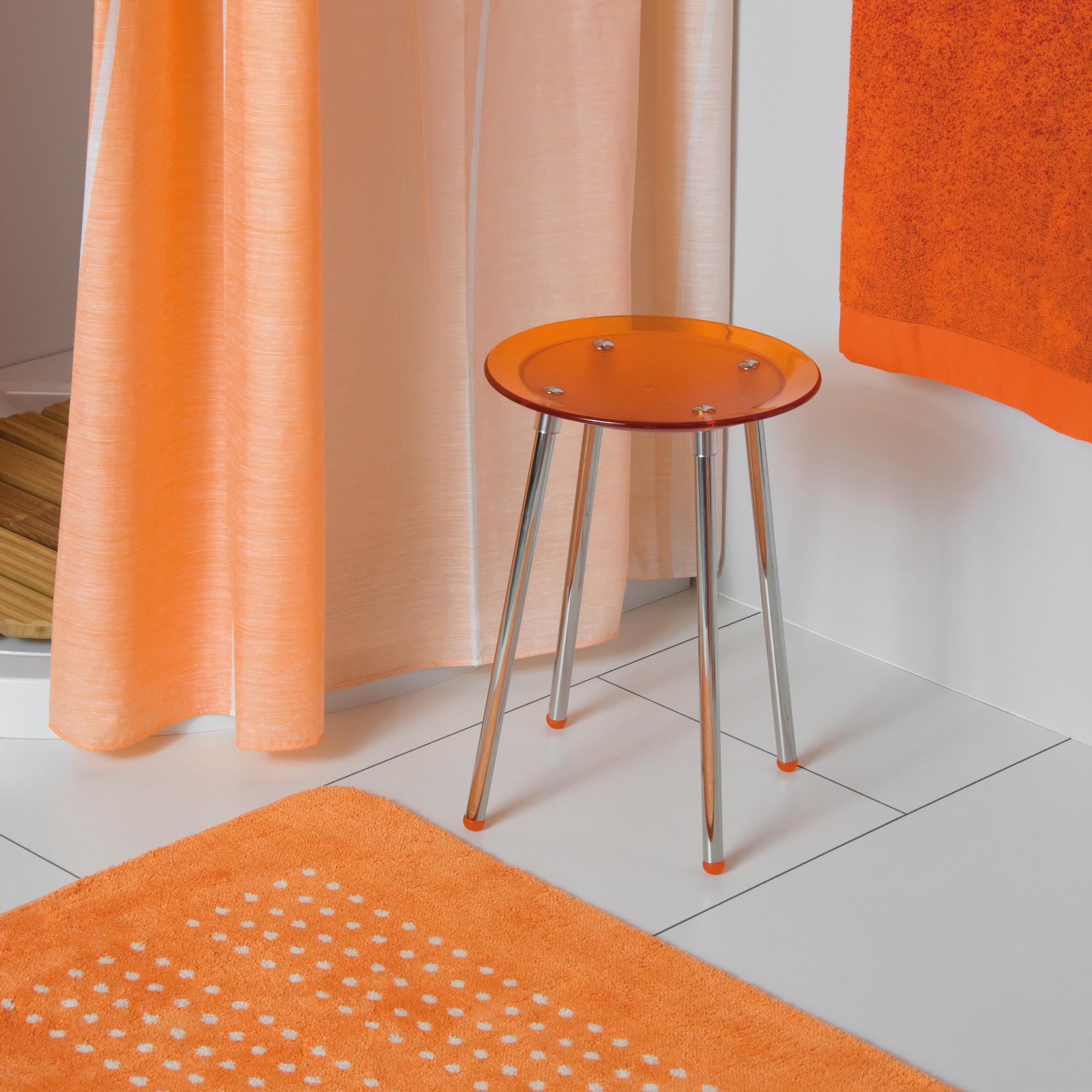 tabouret de douche noni rouge transparent anjou connectique. Black Bedroom Furniture Sets. Home Design Ideas