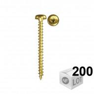 200 Vis VBA tête ronde Power-Fast 3,5x20 - Fischer