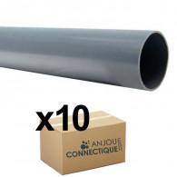Lot De 10 Tubes Pvc évacuation Nf Me Lisse Diamètre 32 Mm 4 Mètres