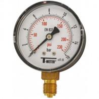 """Manomètre ABS à cadran sec RADIAL Mâle 1/4"""" (8/13) - Ø63 - 0 à 4 bars - Sferaco"""
