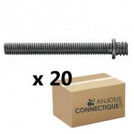 Patte à vis métaux 7x150 - 5x70mm - 20 pièces