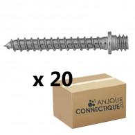 Patte à vis bois 7x150 - 7x60mm - 20 pièces