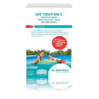 KIT TOUT-EN-1 chlore pour piscine hors sol - Boîte 1,5 kg - BAYROL