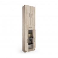 Colonne de salle de bain Motril SALGAR - chêne calédonien 4 portes + 1 tiroir