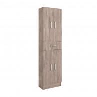 Colonne de salle de bain Motril SALGAR - chêne colorado 4 portes + 1 tiroir