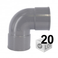Lot de 20 raccords PVC - Coudes 87°30 MF Ø100 - First Plast