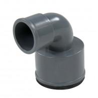 Coude réduit PVC 87°30 FF Ø32 à manchette Ø26x32 FIRST-PLAST