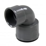 Coude réduit PVC 87°30 FF Ø40 à manchette Ø36x40 FIRST-PLAST