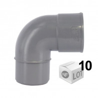 Lot de 10 raccords PVC - Coude 87,30° MF Ø32 ou Ø40 ou Ø50 ou Ø100 FIRST PLAST