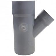 Culotte PVC réduite 45° Mâle Femelle Ø100/40 FIRST-PLAST